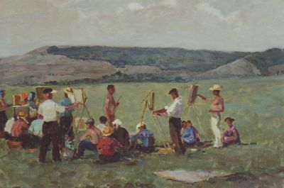 Sold Works: Aleksei Borodin - En Plein Air