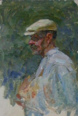 Sold Works: Aleksei Borodin - Man with Cap