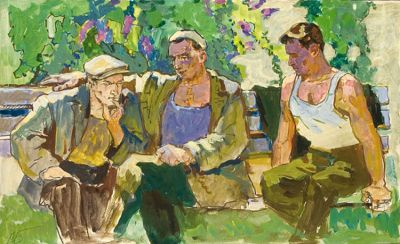 Sold Works: Aleksei Borodin - Men in the Park