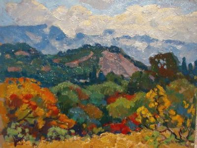 Sold Works: Evgeni Chuikov - Crimean Landscape