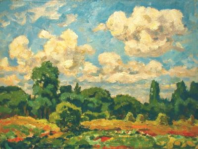 Sold Works: Evgeni Chuikov - Summer Clouds