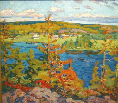 Sold Works: Evgeni Chuikov - Village on the Dnieper