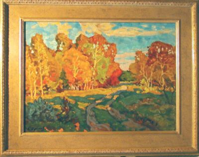 Sold Works: Evgeni Chuikov - Autumn Landscape
