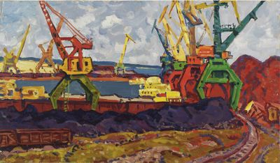 Sold Works: Evgeni Chuikov - Cranes