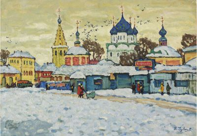 Sold Works: Evgeni Chuikov - Winter in Suzdal