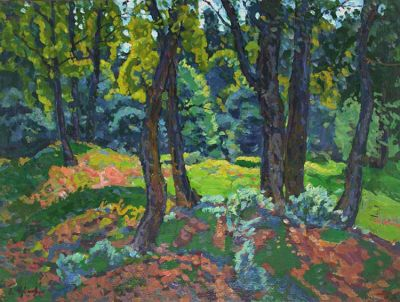 Sold Works: Evgeni Chuikov - Opening in the Forest