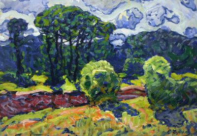Sold Works: Evgeni Chuikov - Rural Motif