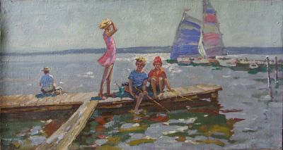 Sold Works: Evgeni Chuikov - Summer Day