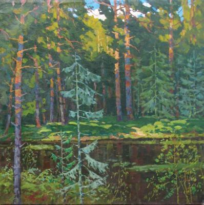 Evgeni Chuikov - Lake in the Wood