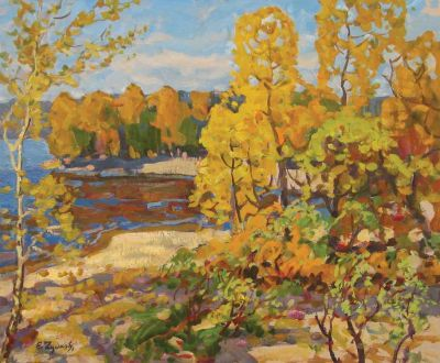Evgeni Chuikov - Autumn on the River