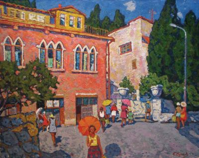 Sold Works: Evgeni Chuikov - House of Korovin' Gurzuf