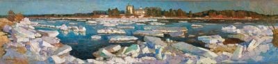 Aleksei Kamenev - Ice Drift on the River