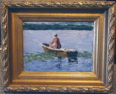 Sold Works: Viktor Letyanin - Boy in the Boat