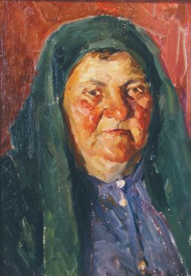 Sold Works: Viktor Letyanin - Portrait of My Aunt