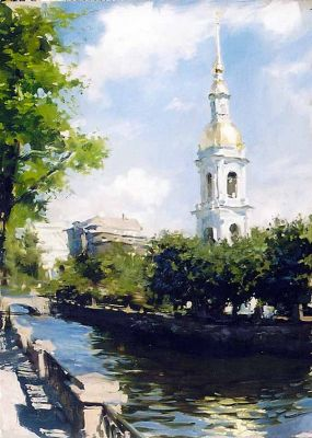 Select Sold Works: Ekaterina Morgun - Canal in St. Petersburg