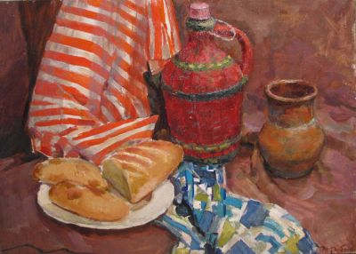 Sold Works: Erikh Rebane - Still Life with Bread