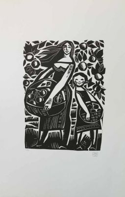 Works on Paper - In the Orchard