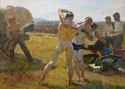 Sold Works: Aleksei Borodin - Tractor Drivers