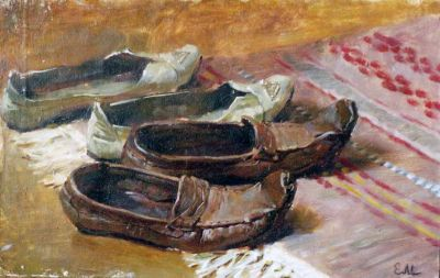 Select Sold Works: Ekaterina Morgun - Old Slippers