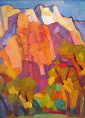 Select Sold Works: Larisa Aukon - Canyon Bottom
