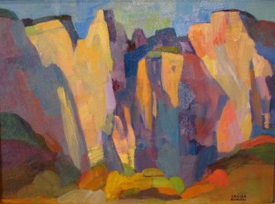 Select Sold Works: Larisa Aukon - Canyon Shadows