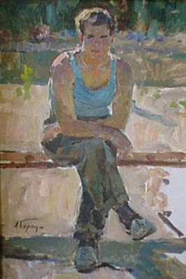 Sold Works: Aleksei Borodin - Sitting Man