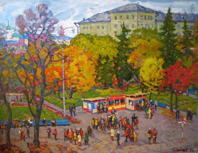 Sold Works: Evgeni Chuikov - By the Bus Stop