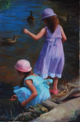 Select Sold Works: Marci Oleszkiewicz - Feeding the Ducks