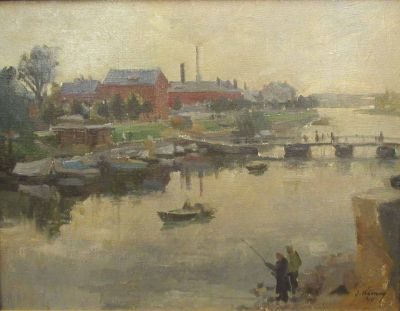 Sold Works: Ilmar Kimm - Emajogi - Mother River, Tartu 1949