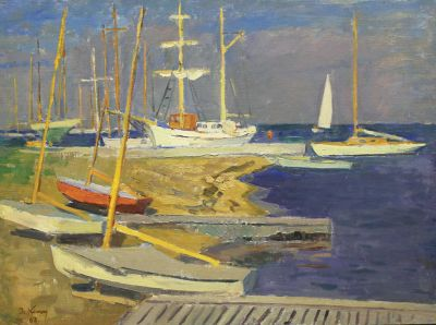 Sold Works: Ilmar Kimm - Port in Pirita, 1963