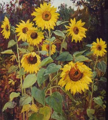 Sold Works: Ilmar Kimm - Sunflowers
