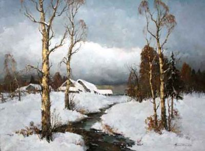 Select Sold Works: Alexander Kremer - Winter Clouds