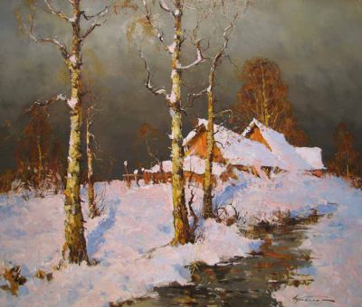 Select Sold Works: Alexander Kremer - Snowy Creek
