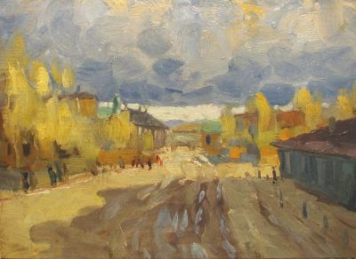 Vasily Martynov - Village Road, 1930′s – 1940′s