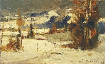 Aleksei Polyakov - Winter in the Crimean Mountains, 1993