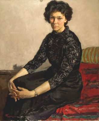 Aleksandr Pushnin - Woman in Black, 1958