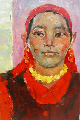 Valentina Saveleva - Girl in Red Kerchief