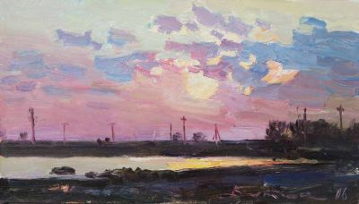 Select Sold Works: Ivan Vityuk - Sunset Over the Estuary