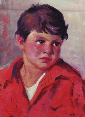Gervasia Vartanyan - Portrait of a Boy in Red