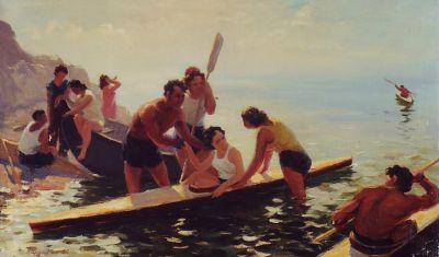 Gervasia Vartanyan - Canoeists by the Sea