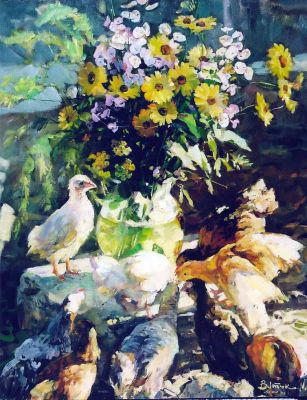 Select Sold Works: Ivan Vityuk - Chicks and Flowers