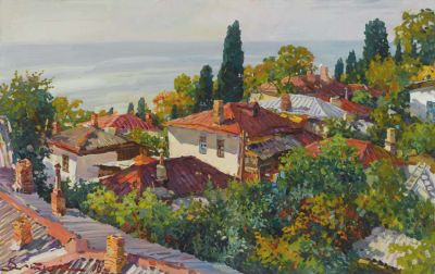 Select Sold Works: Ivan Vityuk - Rooftops Southern Crimea