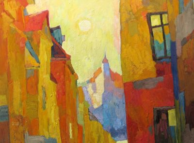 Select Sold Works: Larisa Aukon - Yellow