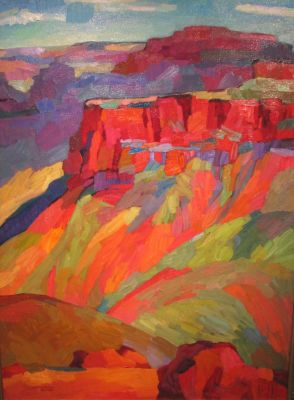 Select Sold Works: Larisa Aukon - Canyon Light 1