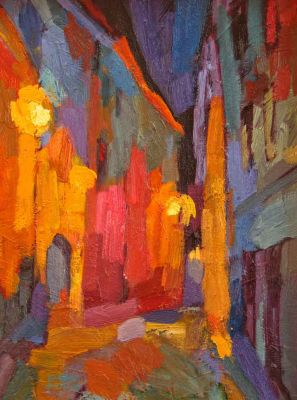 Select Sold Works: Larisa Aukon - Night Walking
