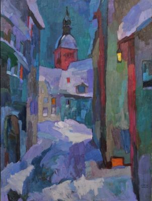 Select Sold Works: Larisa Aukon - Midnight Alley