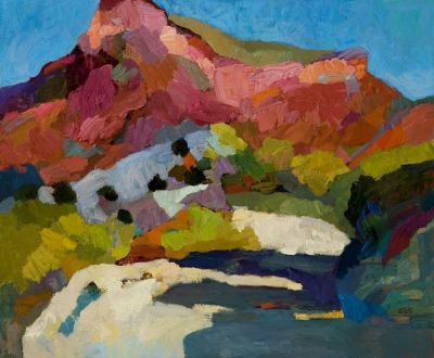 Select Sold Works: Larisa Aukon - Desert Altarpiece