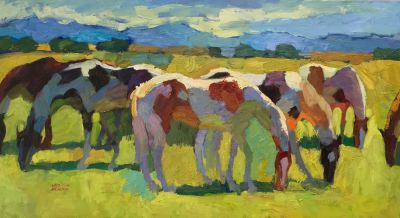 Select Sold Works: Larisa Aukon - Grazing Pintos
