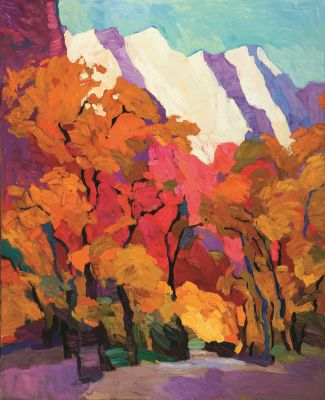 Select Sold Works: Larisa Aukon - Coyote Trail