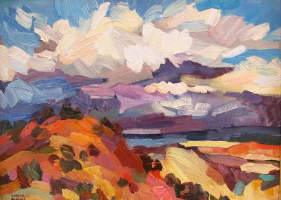 Select Sold Works: Larisa Aukon - Flirting Storm